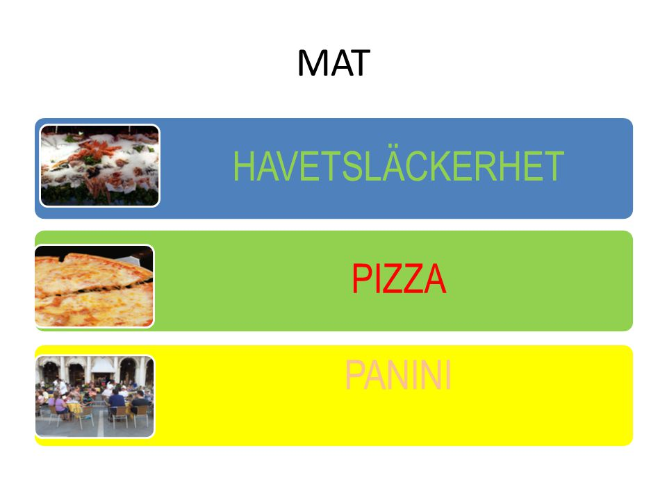 MAT HAVETSLÄCKERHET PIZZA PANINI