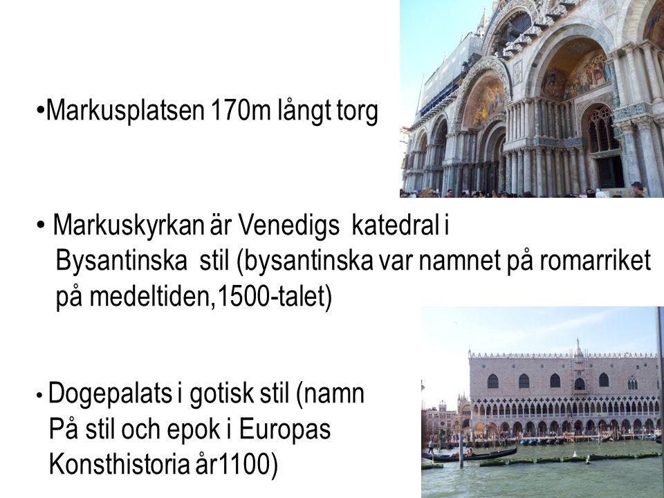 Markusplatsen 170m långt torg