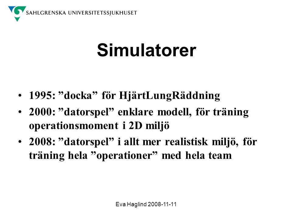 Simulatorer 1995: docka för HjärtLungRäddning