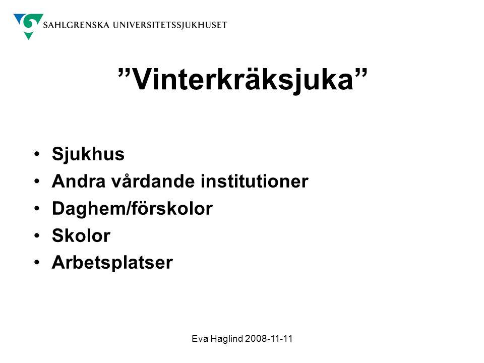 Vinterkräksjuka Sjukhus Andra vårdande institutioner