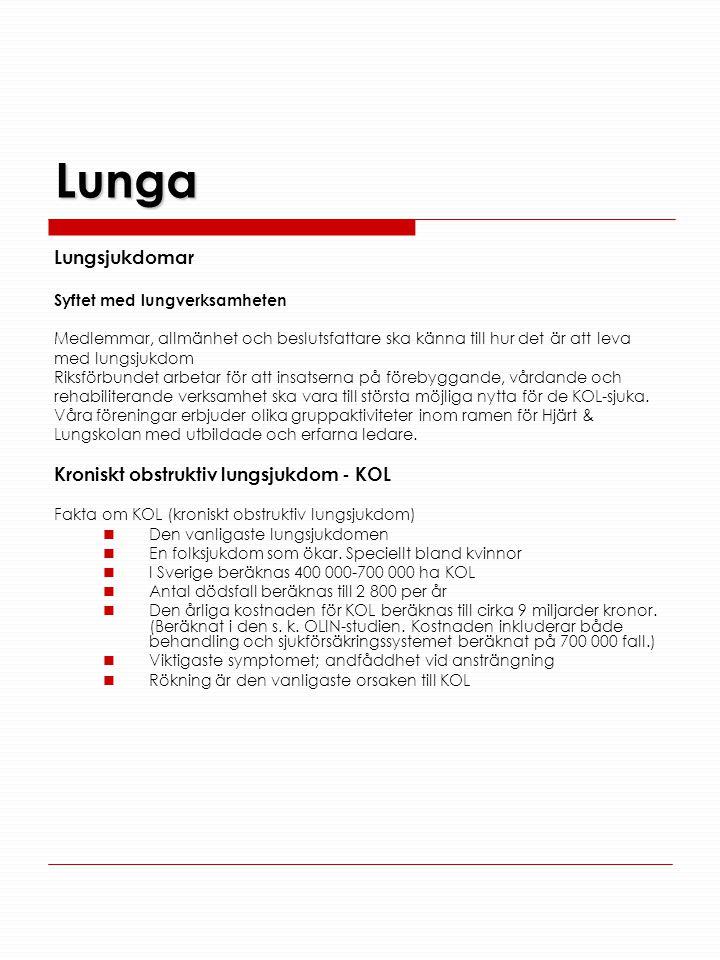 Lunga Lungsjukdomar Kroniskt obstruktiv lungsjukdom - KOL