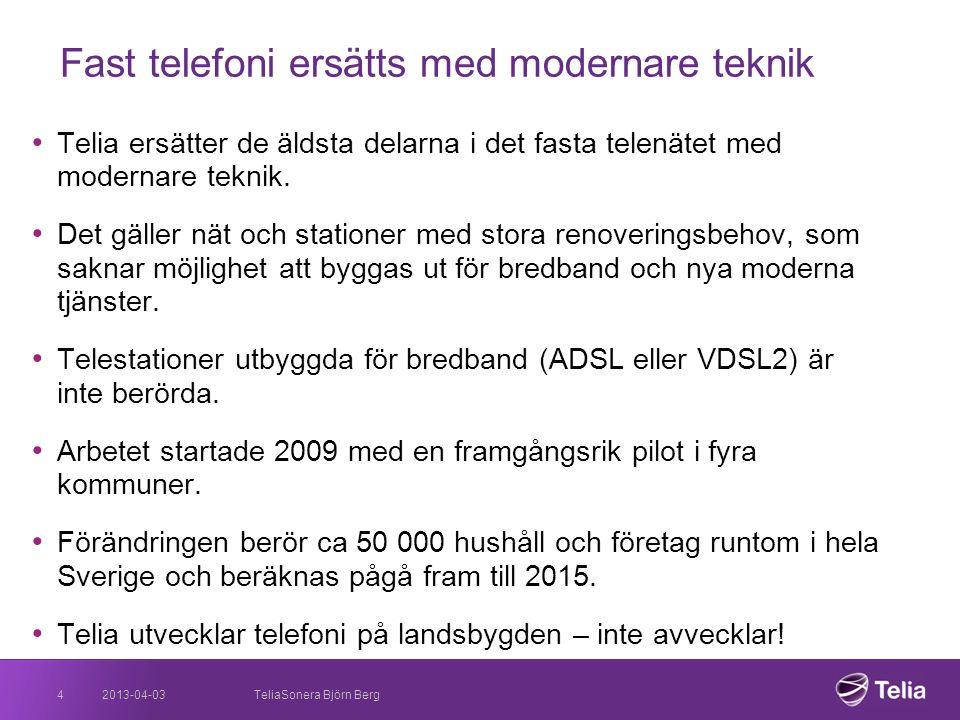 Fast telefoni ersätts med modernare teknik