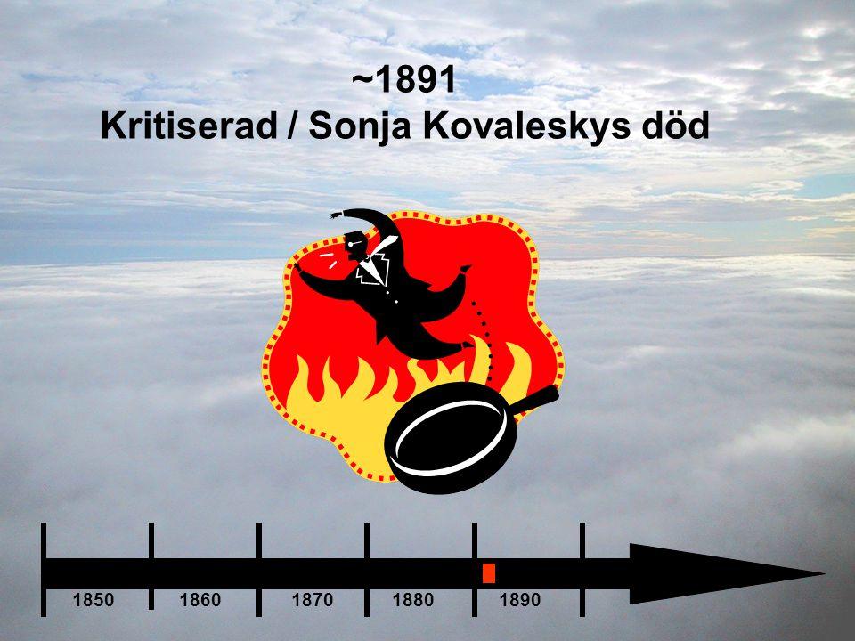 Kritiserad / Sonja Kovaleskys död