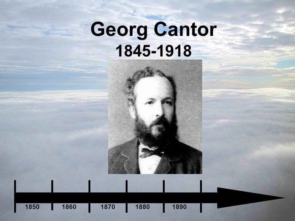 Georg Cantor 1845-1918 1850 1860 1870 1880 1890