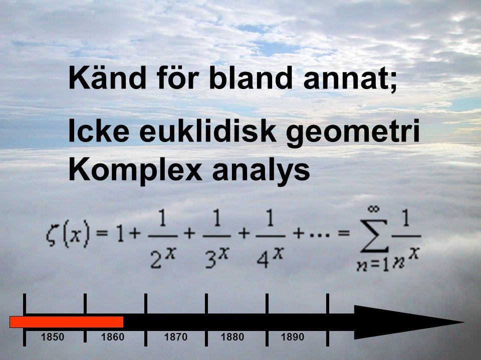 Icke euklidisk geometri Komplex analys