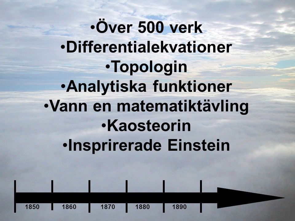 Differentialekvationer Topologin Analytiska funktioner