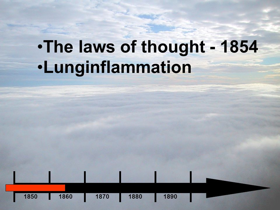 The laws of thought - 1854 Lunginflammation.
