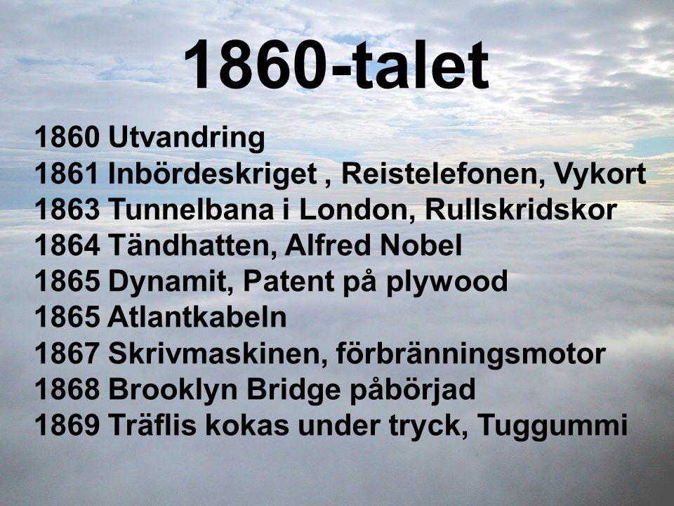 1860-talet 1860 Utvandring 1861 Inbördeskriget , Reistelefonen, Vykort