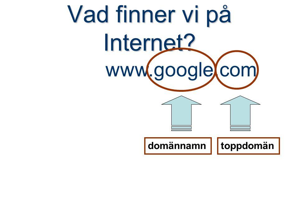 Vad finner vi på Internet