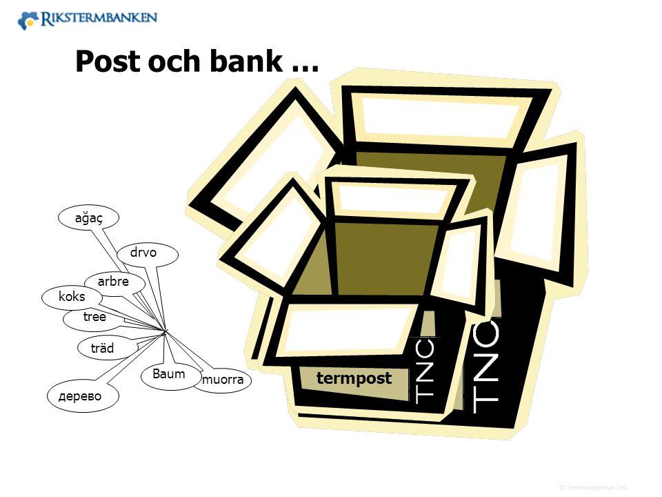 Post och bank … termbank termpost ağaç drvo arbre koks tree träd Baum