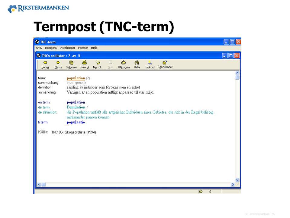 Termpost (TNC-term) 13.5