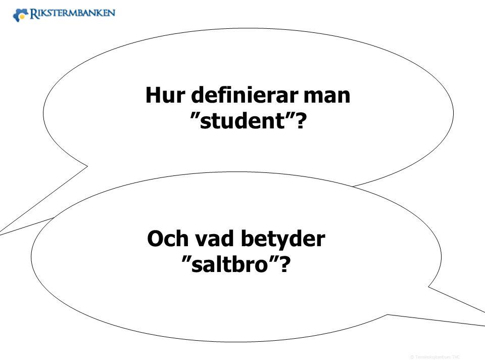 Hur definierar man student Och vad betyder saltbro