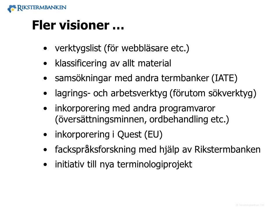 x.x Fler visioner … verktygslist (för webbläsare etc.)
