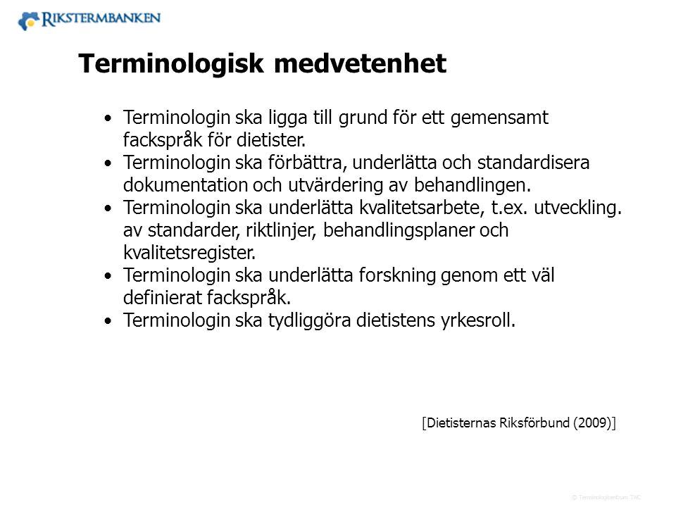 43.xx Terminologisk medvetenhet