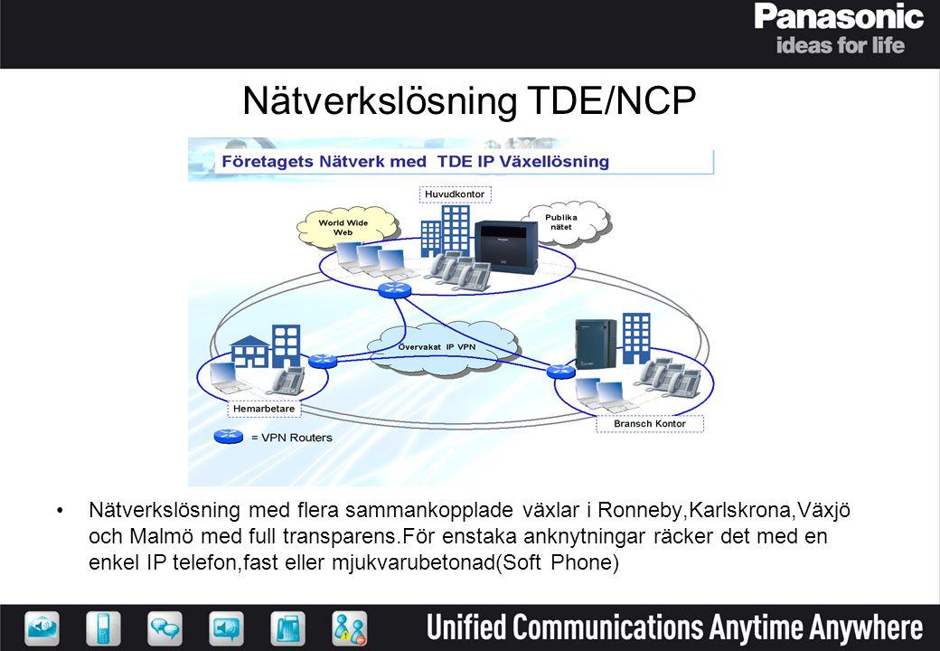 Nätverkslösning TDE/NCP