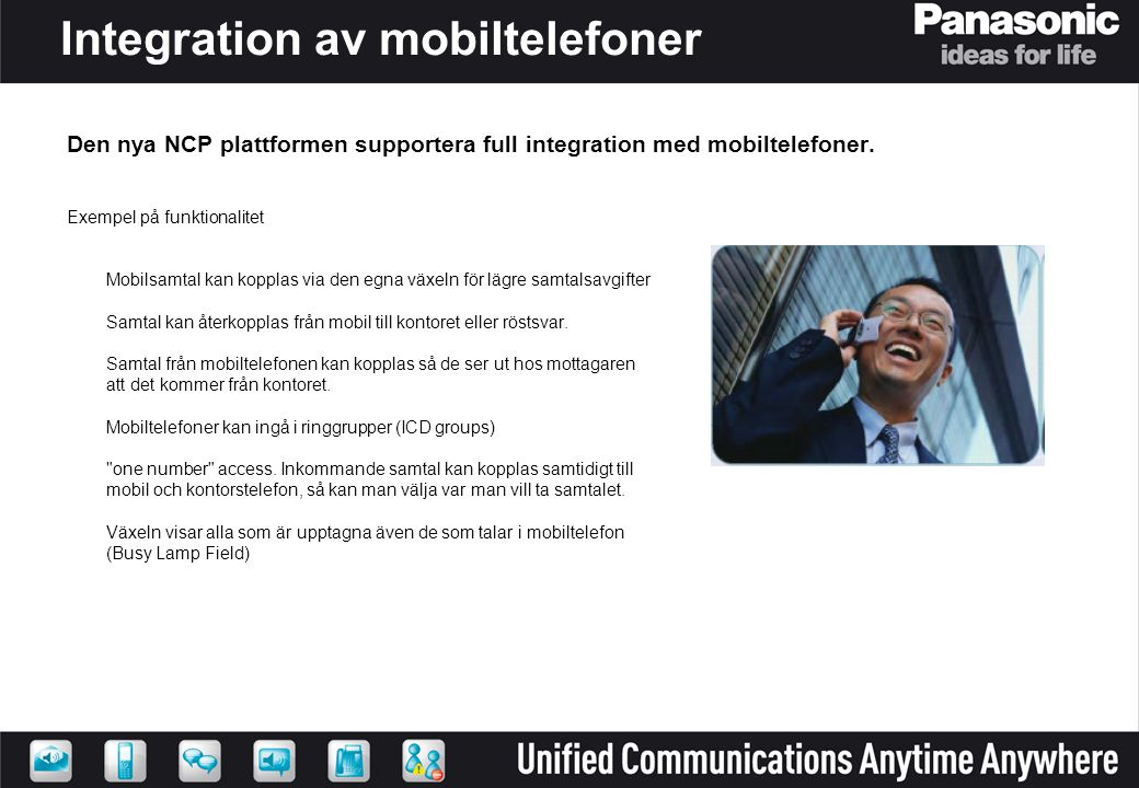 Integration av mobiltelefoner