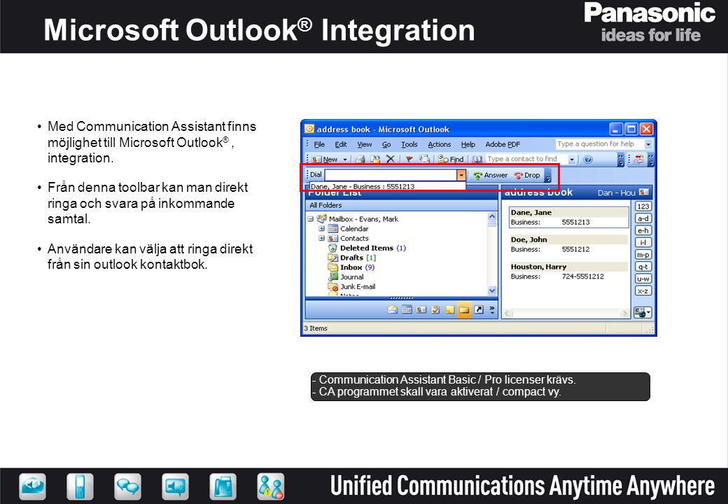 Microsoft Outlook® Integration