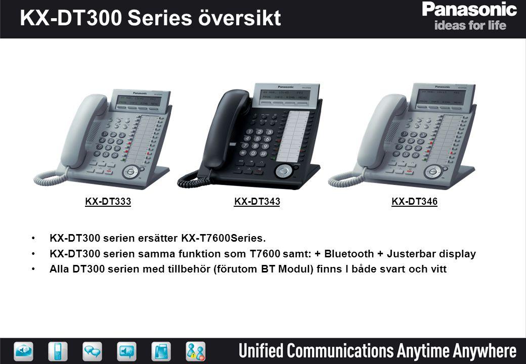 KX-DT300 Series översikt KX-DT300 serien ersätter KX-T7600Series.