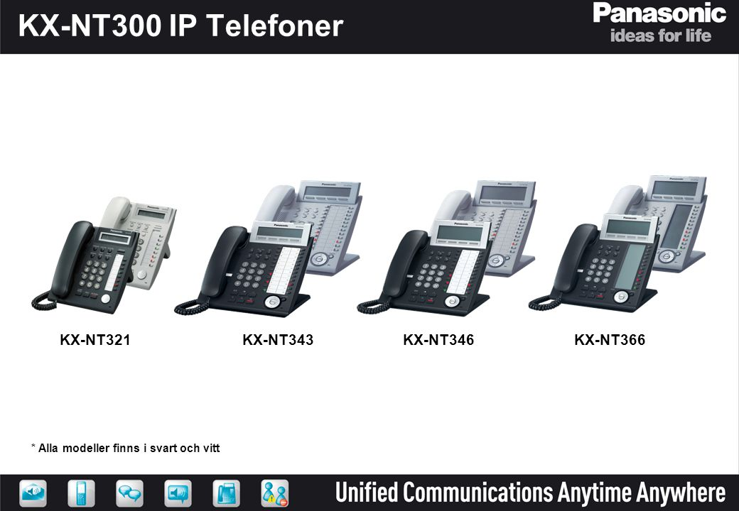 KX-NT300 IP Telefoner KX-NT321 KX-NT343 KX-NT346 KX-NT366