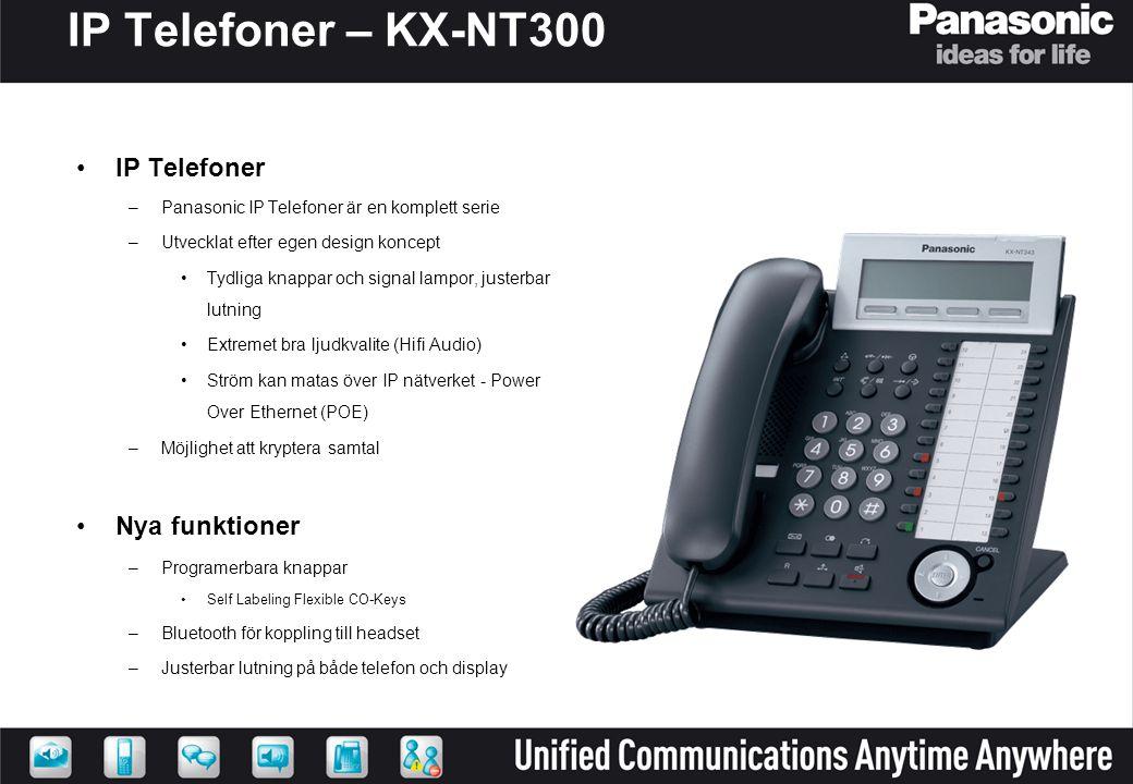 IP Telefoner – KX-NT300 IP Telefoner Nya funktioner
