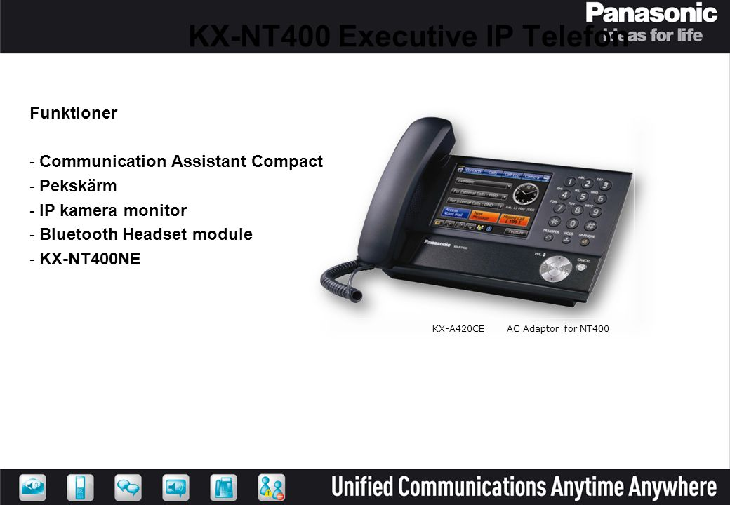KX-NT400 Executive IP Telefon
