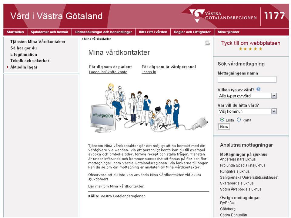 På Vårdportalen 1177s sidor Vård i Västra Götaland har vi samlat information om Mina vårdkontakter.