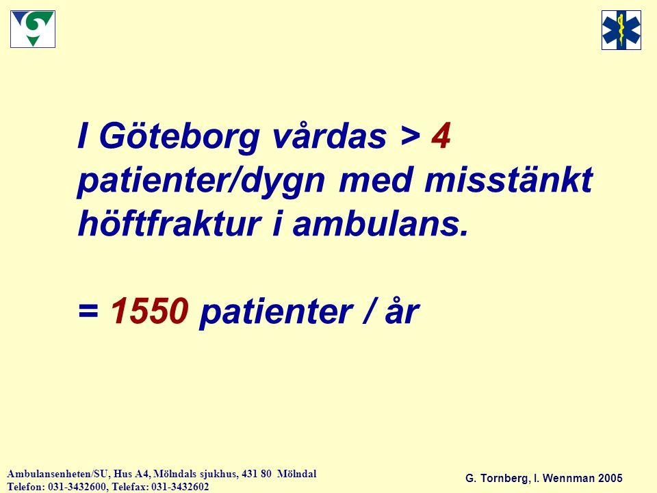 I Göteborg vårdas > 4 patienter/dygn med misstänkt