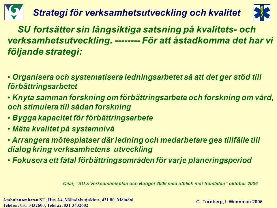 Strategi för verksamhetsutveckling och kvalitet