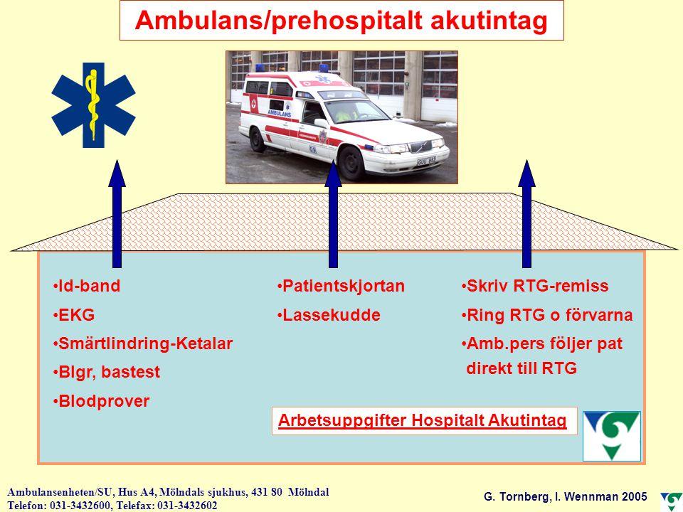 Ambulans/prehospitalt akutintag