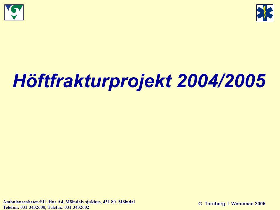Höftfrakturprojekt 2004/2005