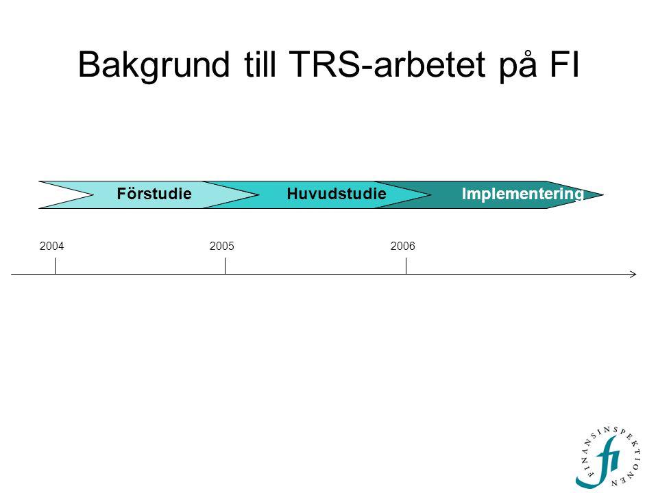 Bakgrund till TRS-arbetet på FI