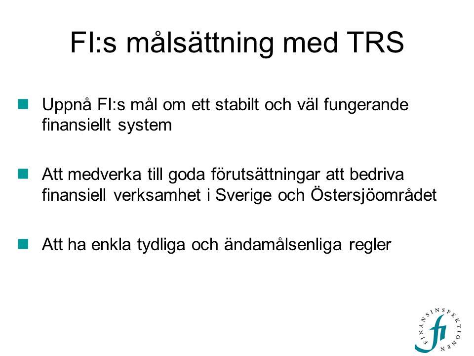 FI:s målsättning med TRS