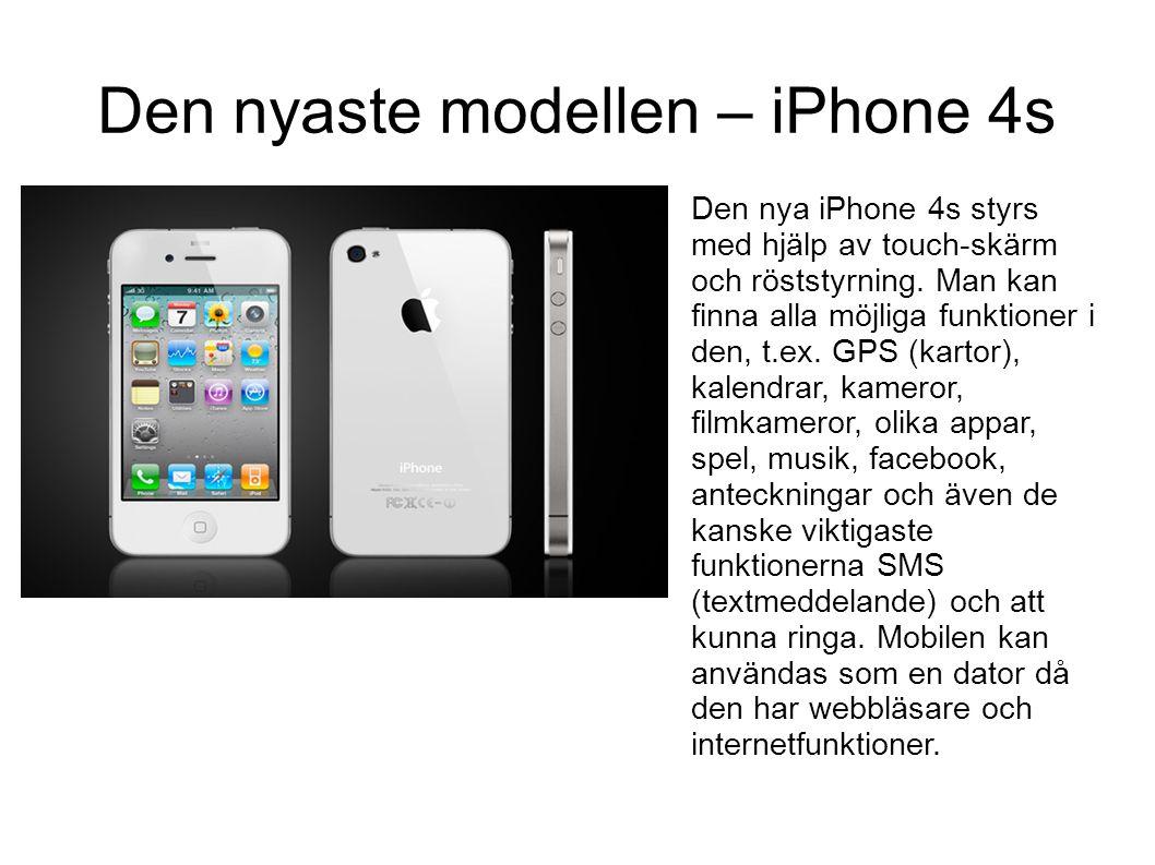 Den nyaste modellen – iPhone 4s
