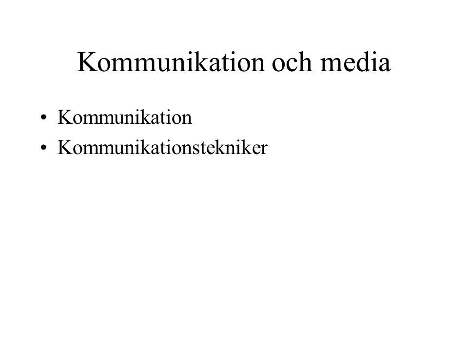 Kommunikation och media