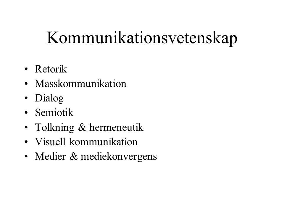 Kommunikationsvetenskap