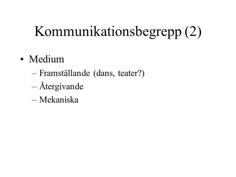 Kommunikationsbegrepp (2)