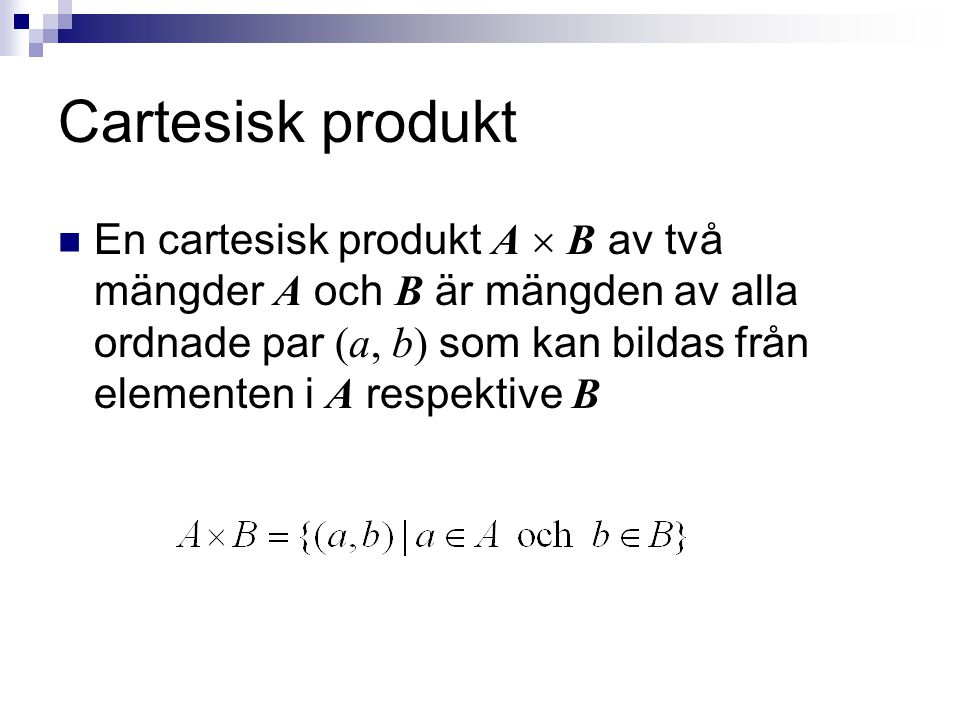 Cartesisk produkt