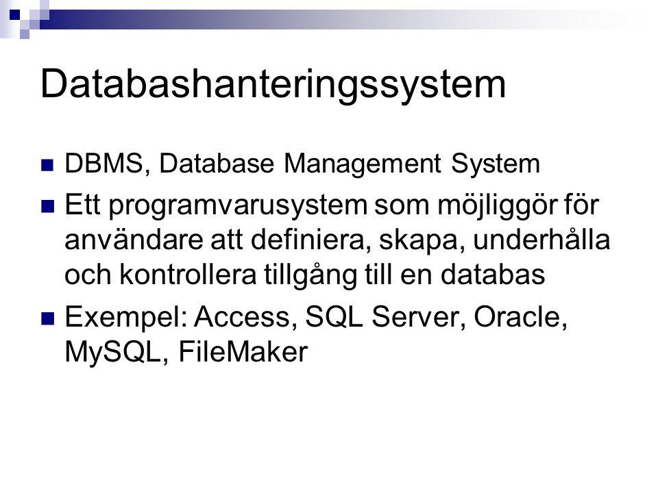 Databashanteringssystem