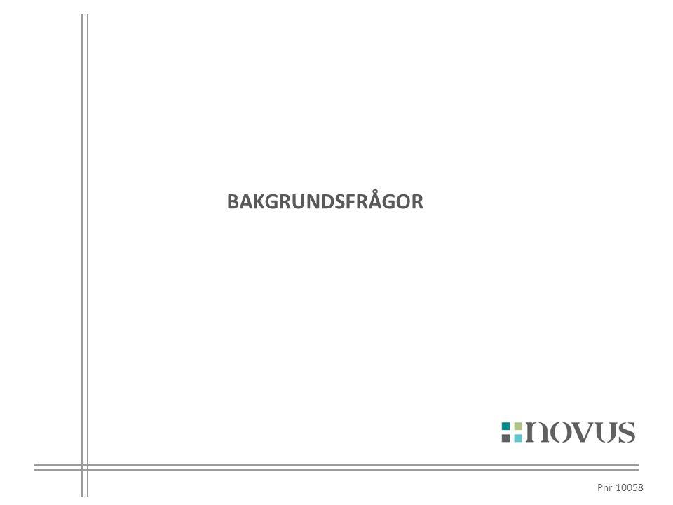 BAKGRUNDSFRÅGOR Pnr 10058