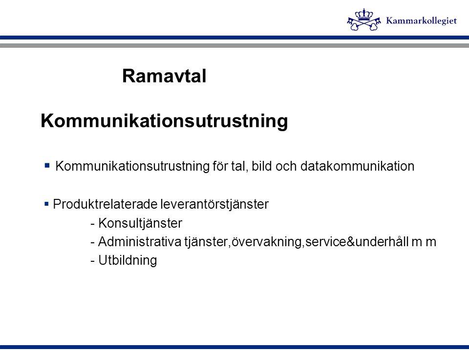 Ramavtal Kommunikationsutrustning