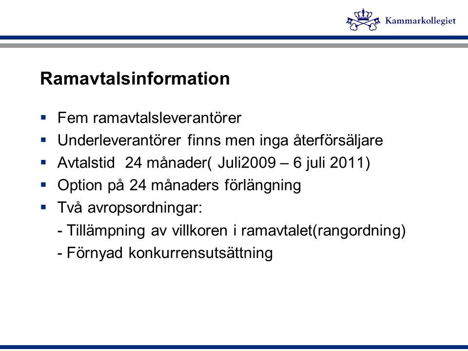 Ramavtalsinformation