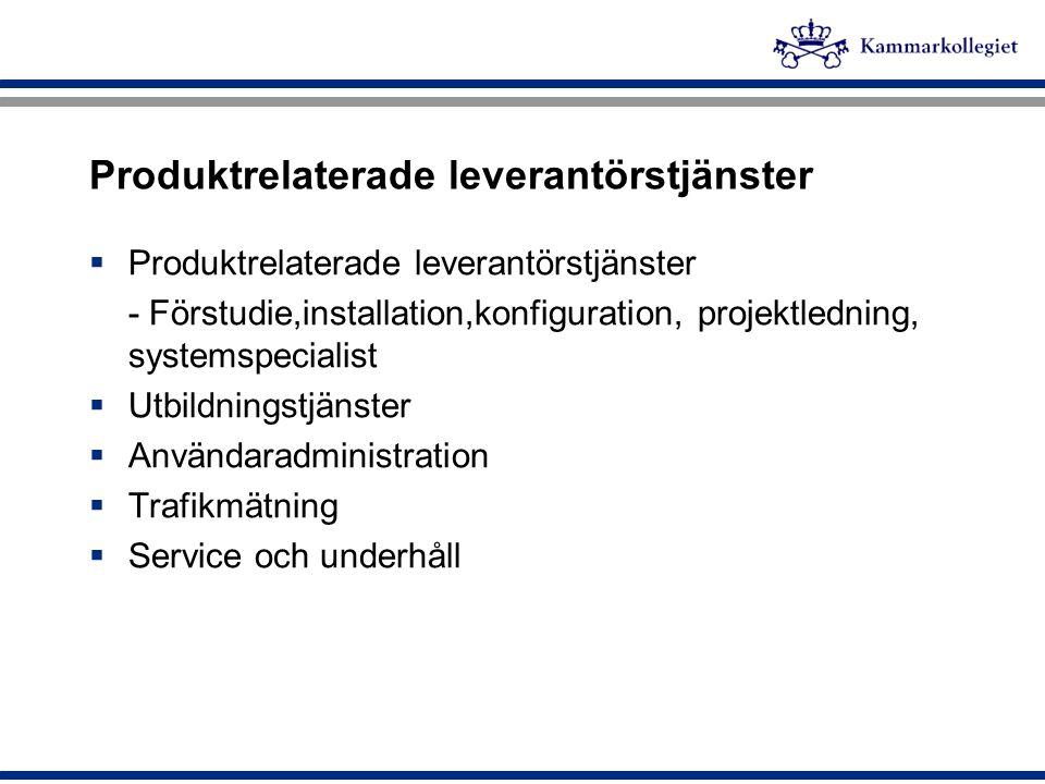 Produktrelaterade leverantörstjänster