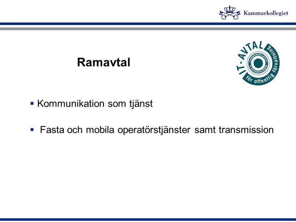 Ramavtal Kommunikation som tjänst