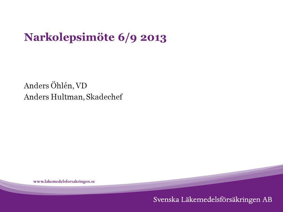 Narkolepsimöte 6/9 2013 Anders Öhlén, VD Anders Hultman, Skadechef