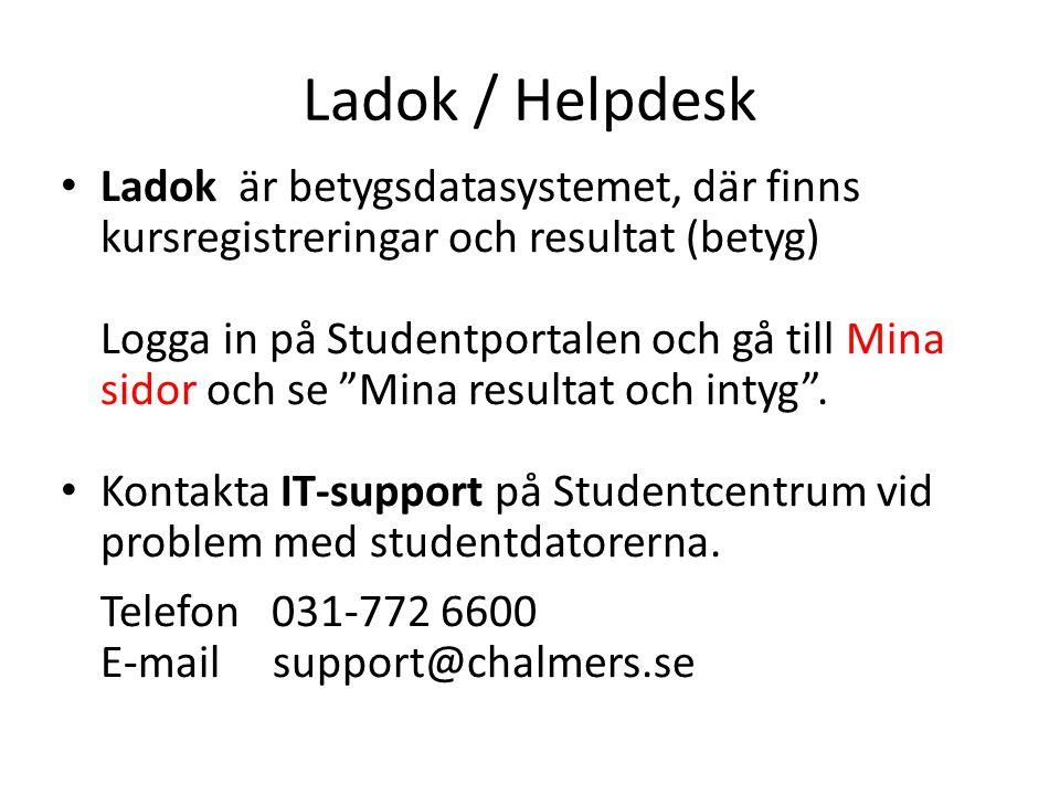 Ladok / Helpdesk