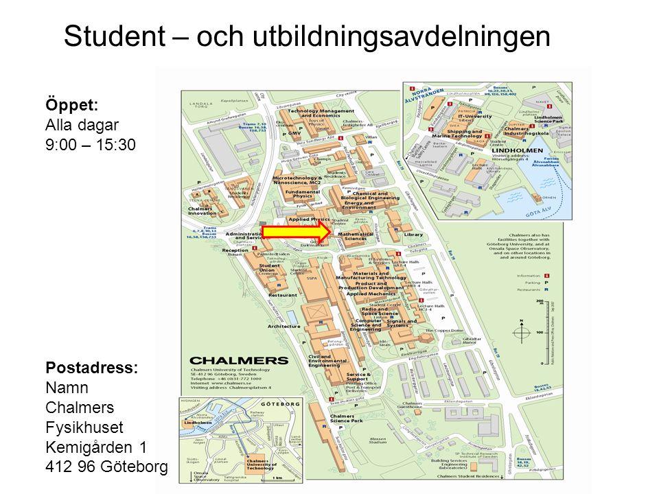 Student – och utbildningsavdelningen