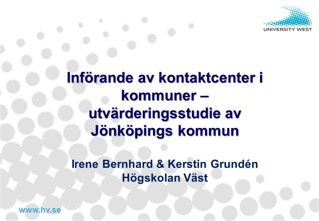 Införande av kontaktcenter i kommuner –