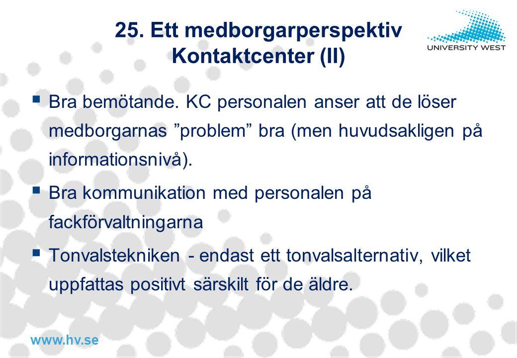 25. Ett medborgarperspektiv Kontaktcenter (II)