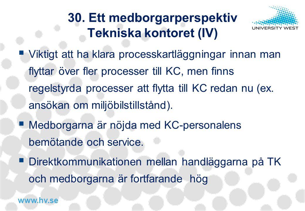 30. Ett medborgarperspektiv Tekniska kontoret (IV)