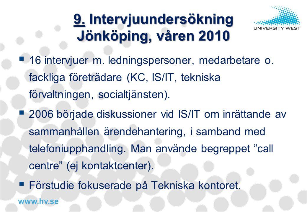 9. Intervjuundersökning Jönköping, våren 2010